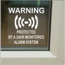 1 x Protected by a 24hr Monitored Alarm System Stickers for Windows-Security Warning Signs for House,Flat,Business,Office,Shop,Property-Self Adhesive